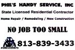Contractor Services Tampa, Fl